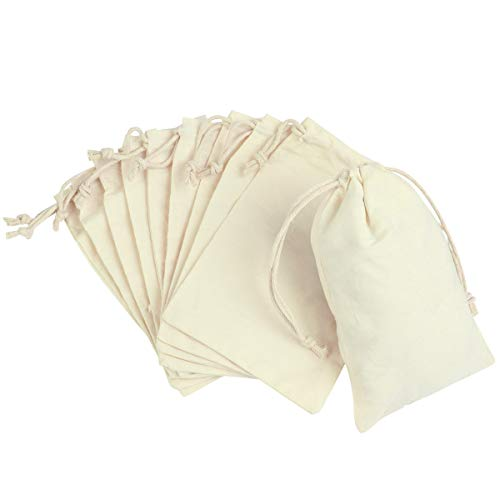 Toyvian Bolsas de Regalo con cordón Bolsas para el Favor de la Boda Bolsas de algodón...
