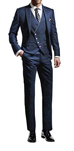 Suit Me – Traje de 3 piezas para hombre, corte ajustado, para bodas, fiestas, smoking,...
