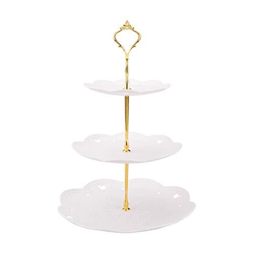 Soporte para Tartas de 3 Pisos, Bandeja de Tartas, Plato de Frutos, Cupcake y Torre de...