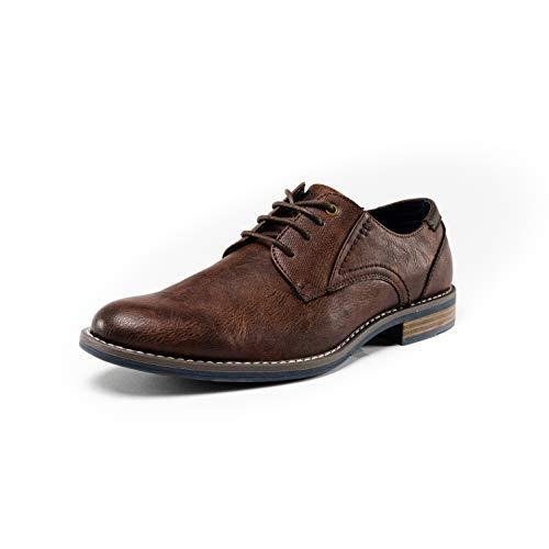 Denver Footwear, Zapatos de Vestir Derby con Cordones para Hombre, Marrón, 44 EU