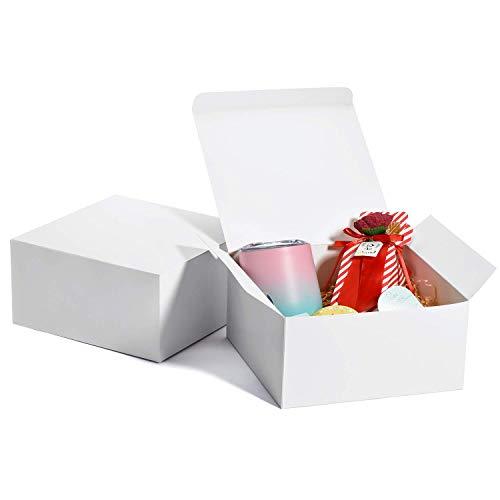 Switory Cajas de regalo de 25 piezas con tapas, 20x20x10cm cajas de regalo de papel Kraft...
