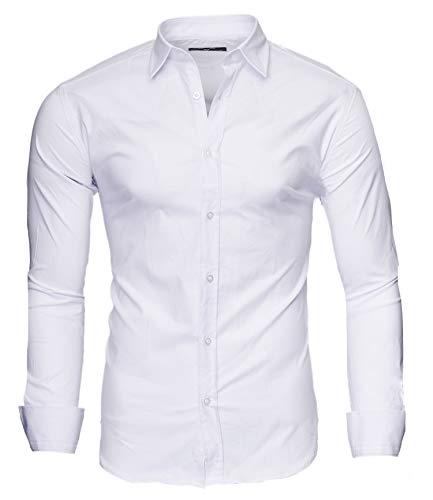 Kayhan langarmhemd A.L.T Hombre Camisa Slim fit, White L