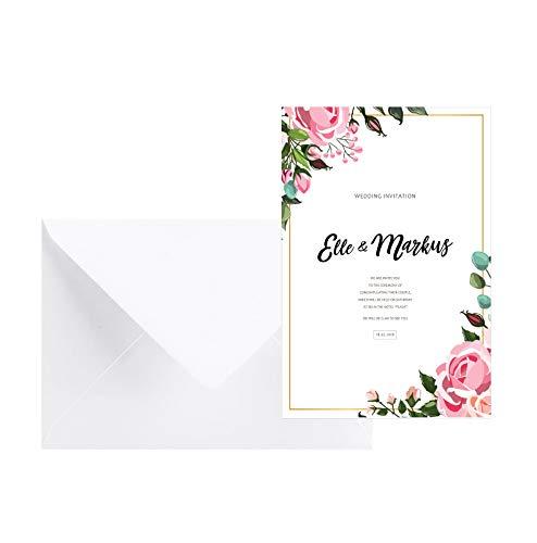 Invitaciones de boda, tarjetas de invitación para boda, invitación para fiesta nupcial,...