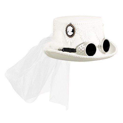 Boland 54563 Marrypunk - Sombrero con gafas y velo para novia, boda, fiesta temática,...
