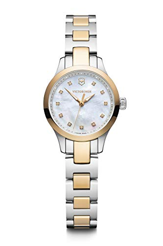 Victorinox Mujer Alliance XS - Reloj analógico de Cuarzo de Acero Inoxidable de...
