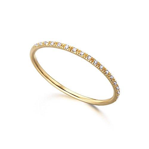 Media Alianza, fabricada en Oro 18K y pequeños diamantes (H-SI), de LECARRÉ JOYAS.