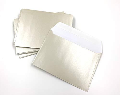 25 sobres de nácar, de color perla, White Pearl, C6 = 162 x 114 mm, cierre autoadhesivo...
