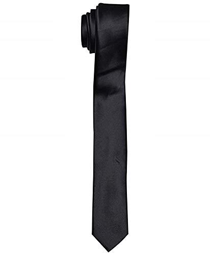 Corbata para hombre - negro - delgado - satinado - estrecho - delgado - elegante - casual...