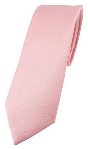 TigerTie Corbata de diseño estrecho en un solo color, ancho de corbata de 5,5cm, Rosa.,...