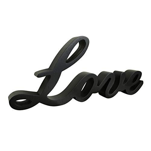 CVHOMEDECO. Negro Signo de palabras de madera De pie 'Love' Escritorio / Shelf / Home Wall...