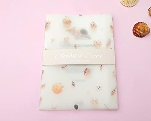 Invitación de Boda Conchas // Opción imprimirla en papel de semillas // Precio por...