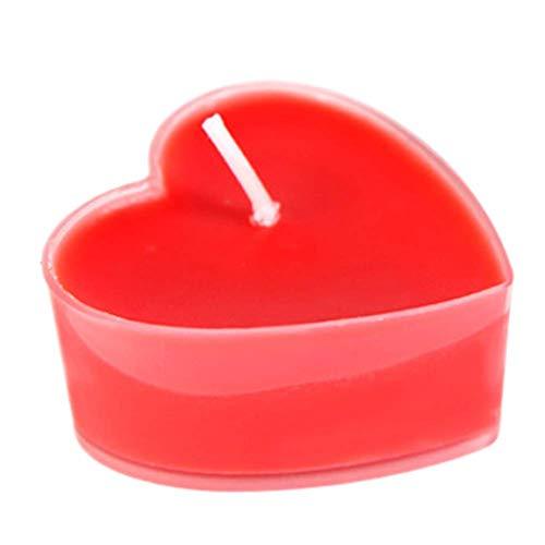outflower 9pcs–Vela con forma de corazón boda romántico fiesta de cumpleaños...