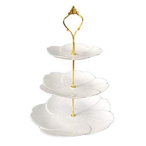 DMFSHI Bandejas para Tartas, Soporte para Tartas, 3 Niveles Decoraciones de Plástico con...