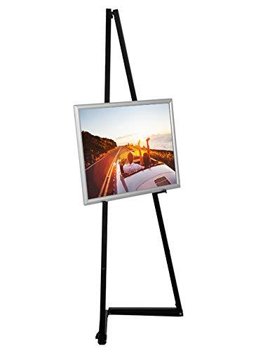 Display Sales - Caballete portátil de aluminio color negro para marcos de hasta 120 cm