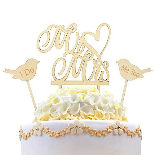 cake topper boda KAKOO cake topper wedding de Mr y Mrs decoración de boda oro de los...