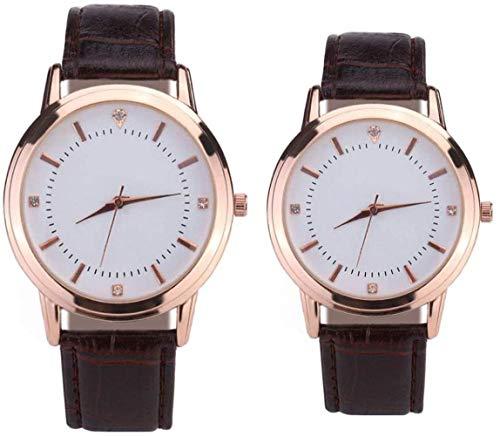 SGHH-Reino Unido Pareja Reloj For Mujer For Hombre De La Correa De Cuero De Cuarzo Reloj...