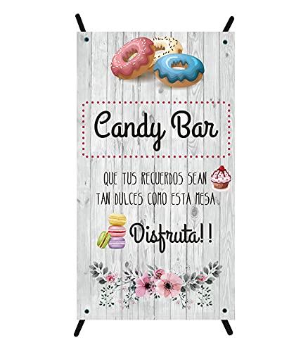 Cartel Candy bar | cartel para bodas | cartel decorativo mesa dulce | cartel mesa dulce...