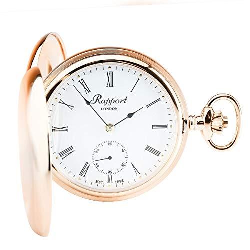 Rapport - Reloj de bolsillo para reloj de bolsillo, pequeño segundo, doble cazador