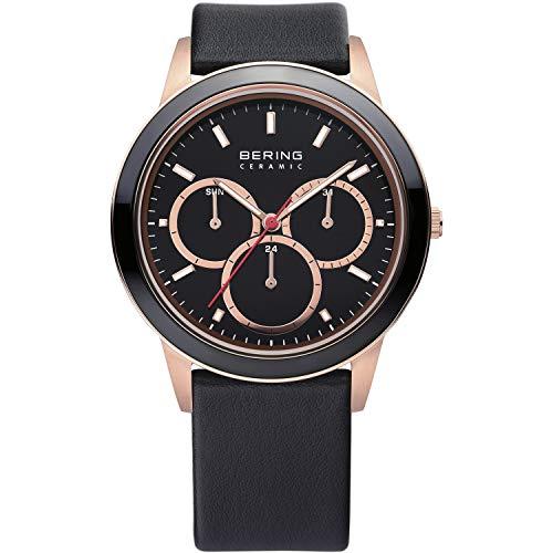 BERING Reloj Analógico Ceramic Collection para Unisex de Cuarzo con Correa en Cuero y...
