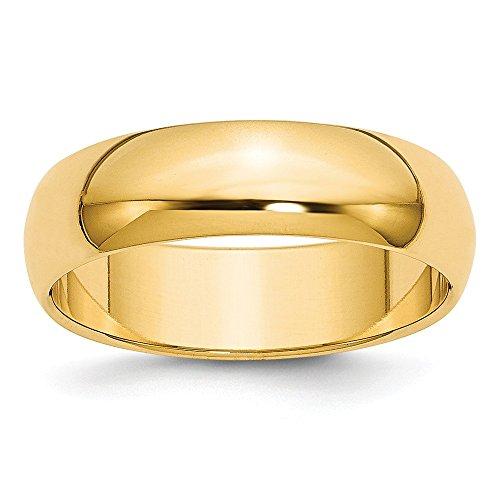 Diamond2Deal - Alianza de boda de oro amarillo de 14 quilates para mujer