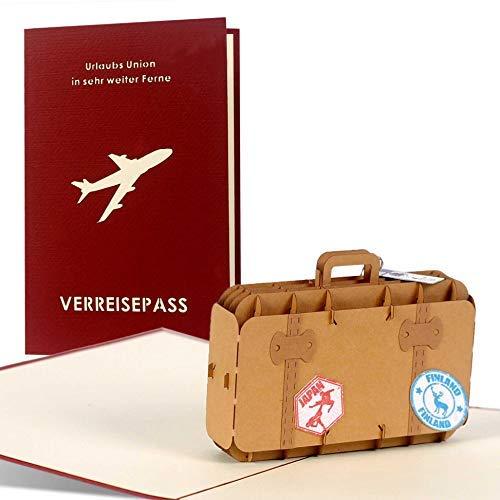 Diese Klappkarten Tarjetas de felicitación para un viaje de larga distancia o crucero...