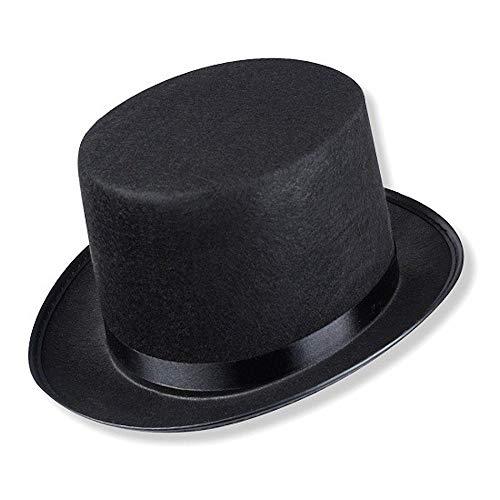 Schramm® Sombrero de Copa con Cinta de Raso Negro para Adultos Sombrero de Copa Chapeau