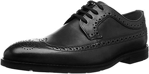 Clarks Ronnie Limit, Zapatos de Cordones Brogue Hombre, Piel Negra, 46 EU
