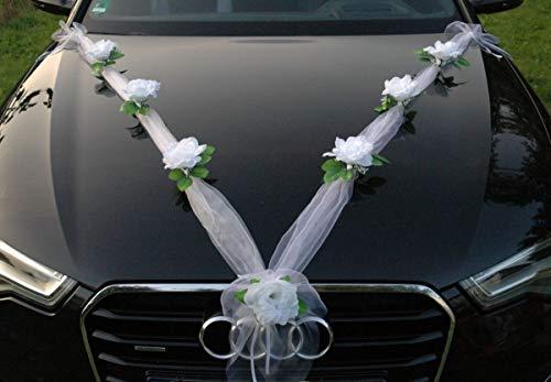 Organza M Auto Joyas Novia par Rose Decoración Boda Coche Wedding Deko Guirnalda...