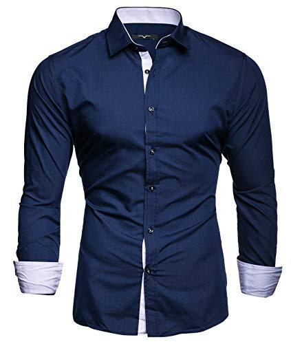 Kayhan Hombre Camisa, TwoFace Navyblue XL