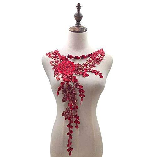 Elegante Bordado De Flores En 3D, Apliques De Encaje De Guipur, Adornos De Costura De...