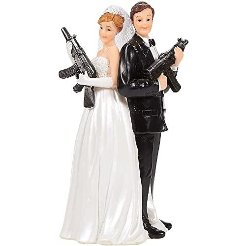 Juvale Decoración para tarta de boda – Divertidas figuras de pareja de boda para...