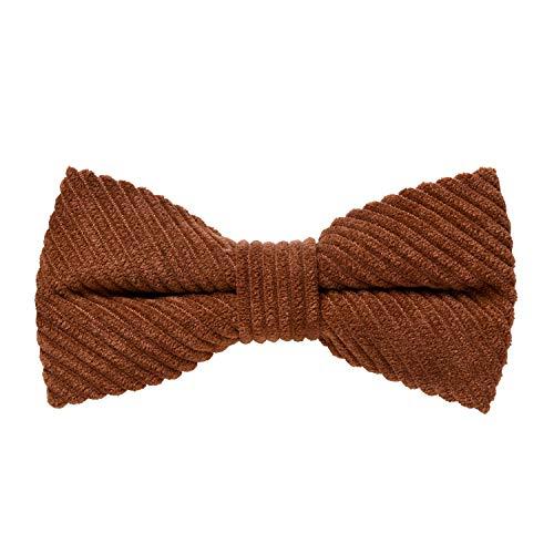 MASADA Pajarita de pana marrón – de ajuste continuo, elaborada a mano con cierre de...