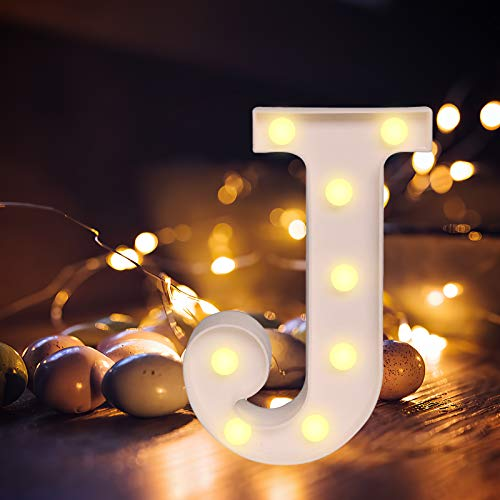 Letras LED iluminadas con luz blanca cálida, luz nocturna para casa, fiestas, bares,...