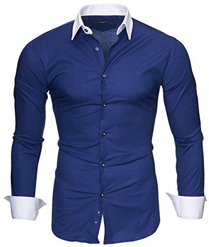Kayhan Hombre Camisa Mailand, Navy (L)