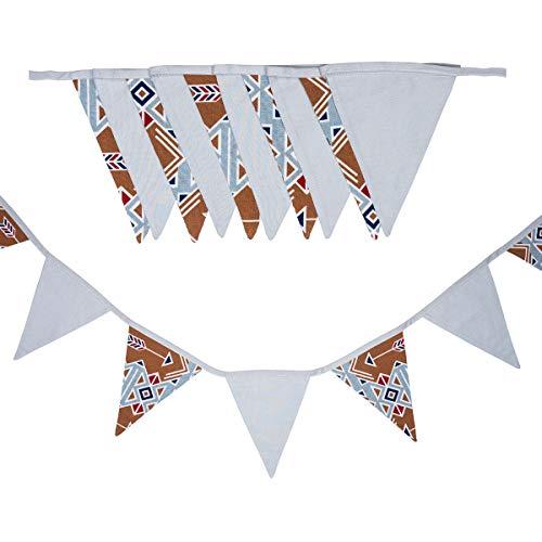 cozydots - Guirnalda de banderines de Doble Cara, Guirnalda de Tela, guirnaldas Coloridas...