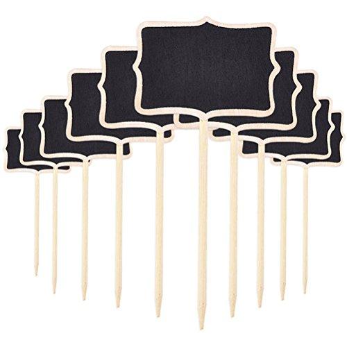 ROSENICE 10 unids Mini Pizarras de Número Señales de Tablero de Mesa Signos de Mensajes...