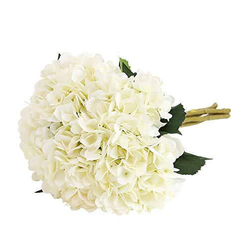 Tifuly Artificial Hydrangea Flower, 5 PCS Ramos de hortensias de Seda de Tallo Largo para...
