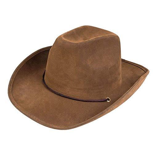 Boland 04351 – Sombrero Utah para adultos, piel sintética, color marrón oscuro,...