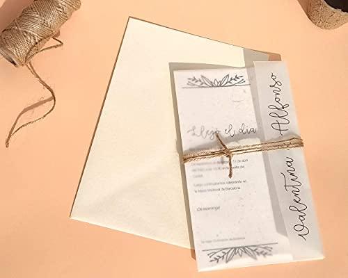 Invitación de Boda Planta nuestro amor // Invitación impresa sobre papel de semillas //...
