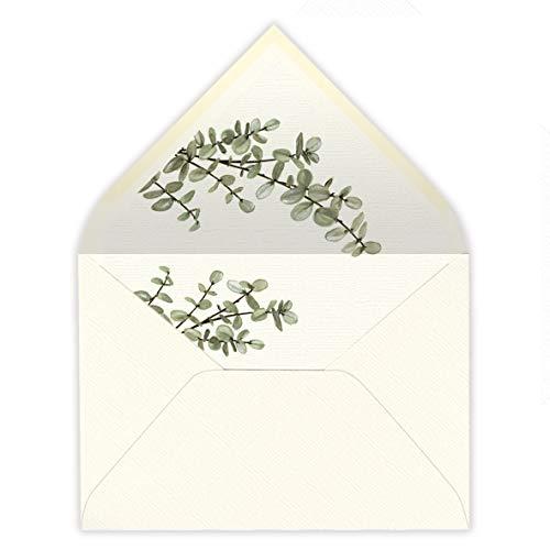 sobres forrados invitaciones de boda HOJAS-FLORES (160gr+forro 22,5x16,5 cm) (1079-rama)