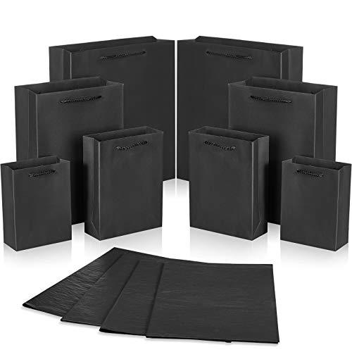 24 Bolsas de Papel Kraft con 24 Papeles Negros de Copiar Bolsas de Papel Negro de 4...