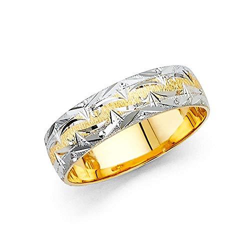 JewelryWeb Mujer oro 14 quilates (585) oro bicolor 14 quilates (585)