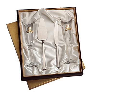 Estuche copas 50 aniver. pala y cuchillo tarta personalizadas bodas oro