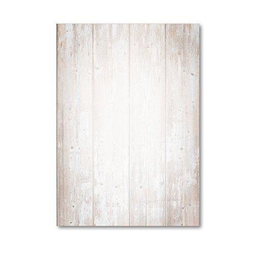 Juego de papel de carta con estampado | 50 hojas en DIN A4 | papel de carta papel para...
