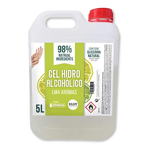Gel hidroalcohólico de 5000 ml con 70% alcohol y con glicerina NATURAL para el cuidado de...