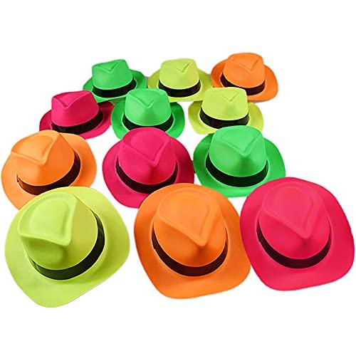 Novelty Place [Estrellas de la Fiesta Fieltro Neón Sombreros de Plástico para Fiestas -...