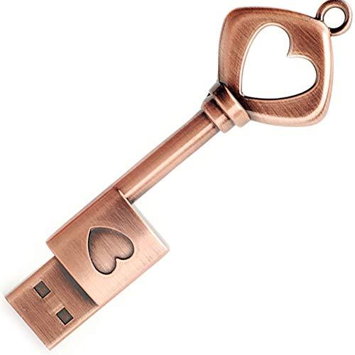 Memoria USB 32GB, BorlterClamp Pendrive Lindo Unidad Flash USB de Forma de Llave Metal...