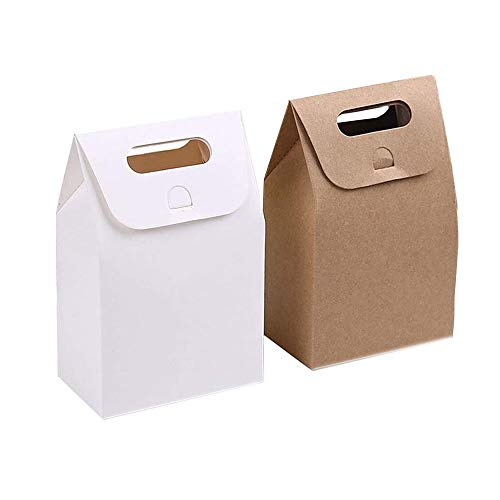 Papel Kraft Caja de Regalo,Bolsa de papel Kraft,Dulces Regalos Cajas,Para el presente del...
