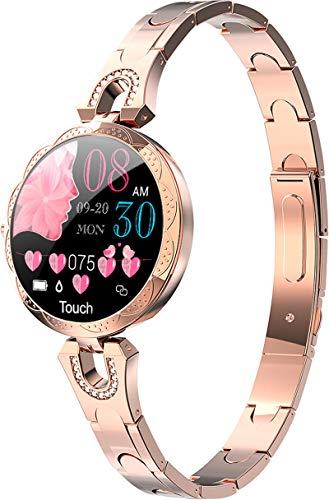 Reloj Inteligente Mujer Smartwatch para Mujer de Oro Rosa, presión Arterial, podómetro,...