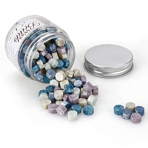 MOPOIN Sello Lacre, MOPOIN 180 Piezas Cera de Sellado Octagonal Perlas de Cera de Sellado...